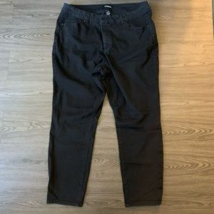 Women plus size 20 W straight jeans black d jeans